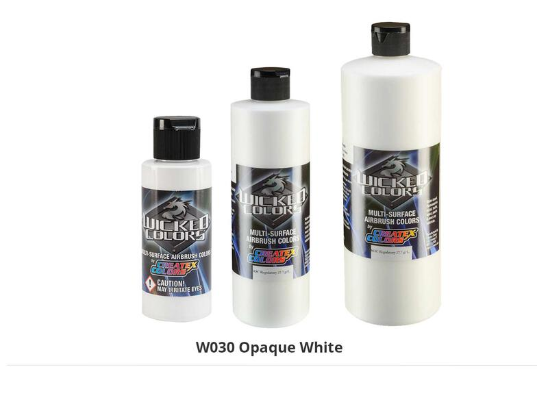 Wicked Opaque Color Airbrushfarbe im Farbton W030 Opaque White