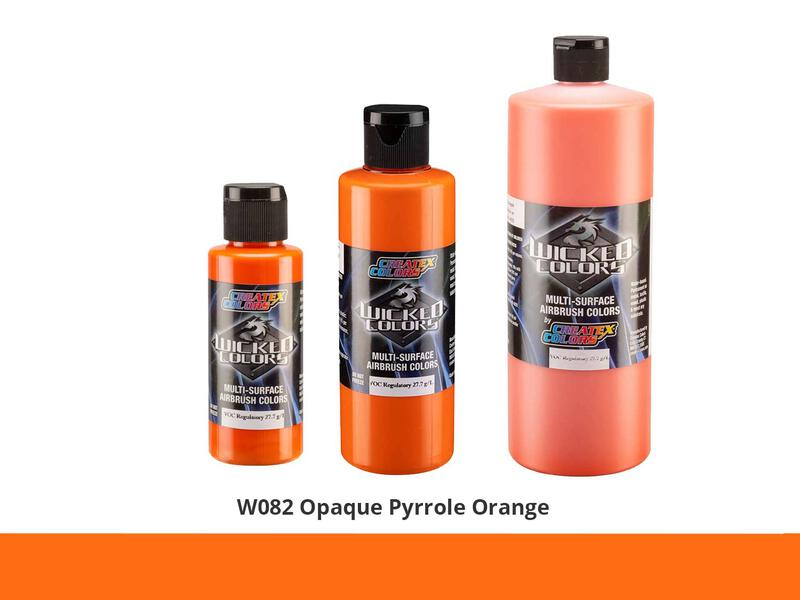 Wicked Opaque Color Airbrushfarbe im Farbton W082 Op. Pyrrole Orange