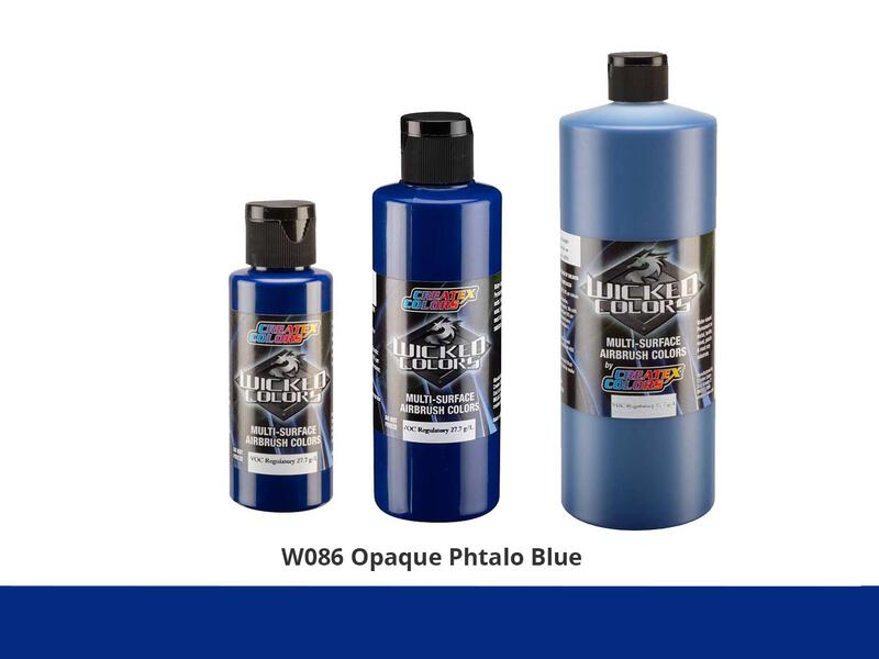 Wicked Opaque Color Airbrushfarbe im Farbton W086 Op. Phthalo Blue