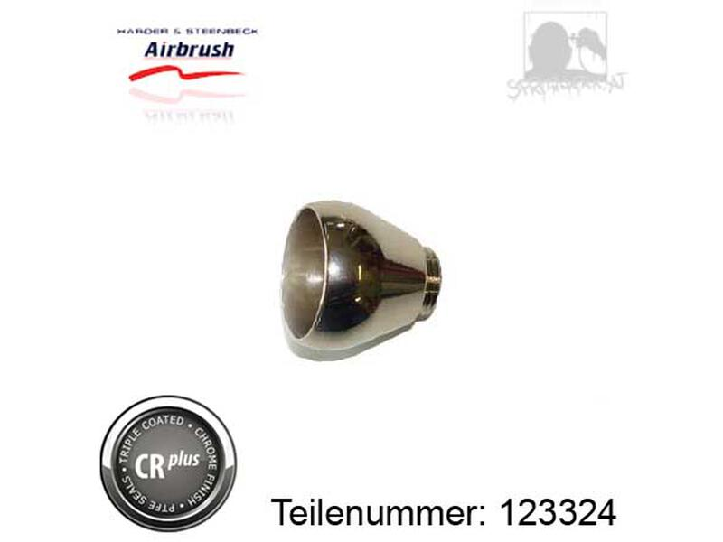 Becher 2 ml aus Metall, chrom