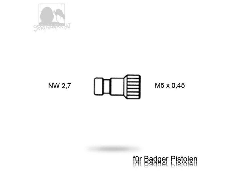 Stecknippel - NW 2,7 mm <> Badger / Revell