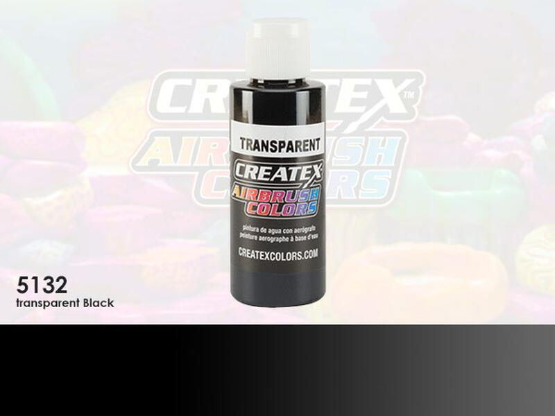 Createx Airbrush Colors im Farbton 5132 Transparent Black
