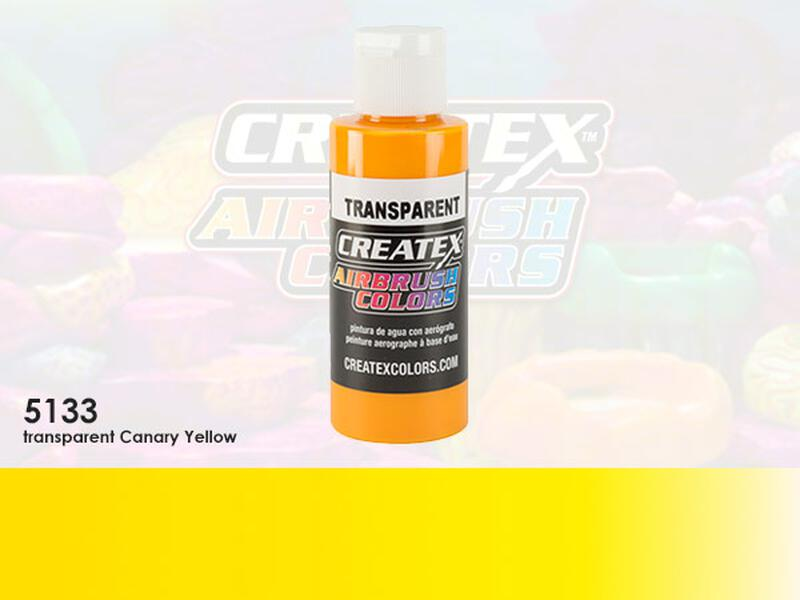 Createx Airbrush Colors im Farbton 5133 Transparent Canary Yellow