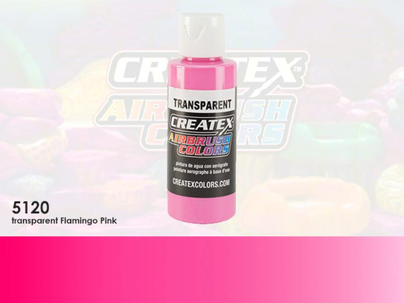 Createx Airbrush Colors im Farbton 5121 Transparent Flamingo Pink