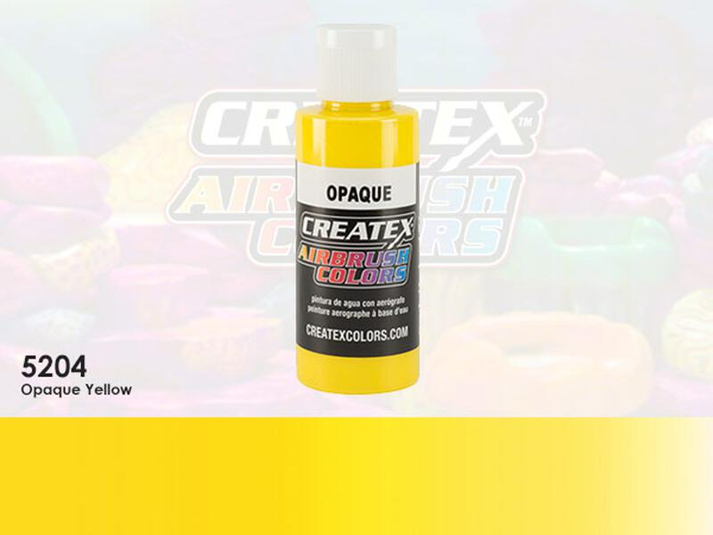Createx Airbrush Colors im Farbton 5204 Opaque Yellow