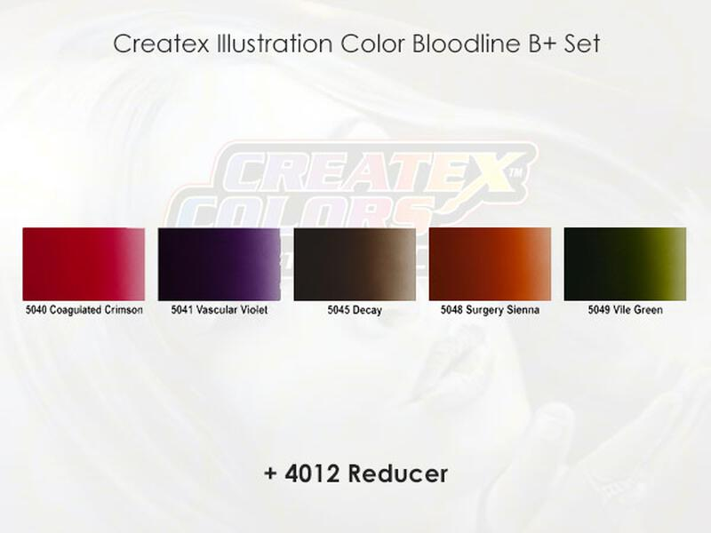 Createx Illustration Color - Bloodline B+ Set - 30 ml