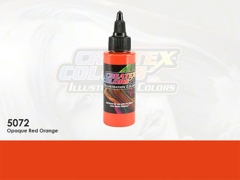 Createx Illustration Color - 5072 Opaque Red Orange - 60 ml