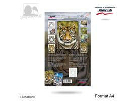 Harder & Steenbeck - Tiger Wildlife Schablone - A4